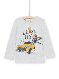 T-shirt grigio melange bambino MOJOTEE2 / 21W90227TMLJ922