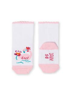 Calze rosa e bianche neonata LYIBONSOQ / 21SI09W1SOQ000