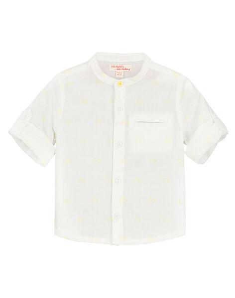 Camicia bianca collo alla coreana neonato FUPOCHEM / 19SG10C1CHM099