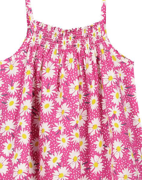 Abito a fiori in cotone estivo bambina FAJOROB9 / 19S901G1ROB712