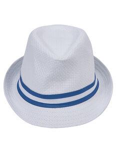 Cappello neonato bianco con fascia blu JYUPOECHA / 20SI10G1CHA000