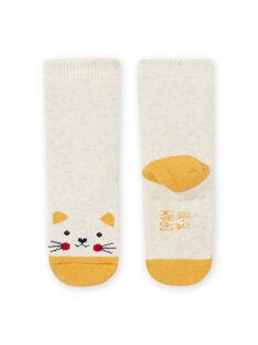 Calze beige melange motivo gatto neonata MYIJOSOQB2 / 21WI0916SOQA011
