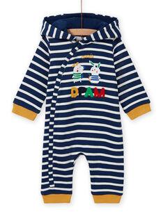 Tuta a righe blu notte motivo animali neonato MUMIXCOM / 21WG10J1CBL713