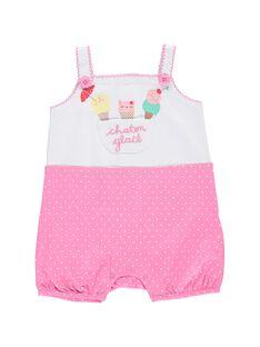 Baby girls' short sleepsuit CEFIGREGLA / 18SH1367GRE000