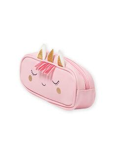 Trousse rosa con motivo unicorno bambina MYACLATROUS / 21WI01G1TRO321