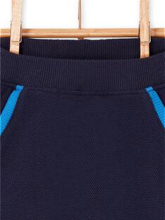 Pantaloni blu notte neonato LUHAPAN1 / 21SG10X1PAN713