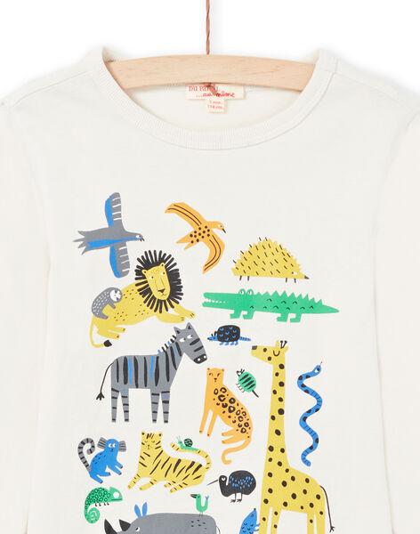 T-shirt crema bambino MOKATEE1 / 21W902I1TML007