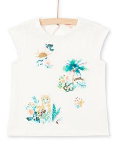T-shirt maniche corte, motivo paesaggio e tigre LAVERTI1 / 21S901Q3TMC001