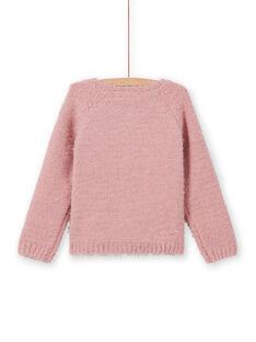 Cardigan in ciniglia rosa antico bambina MAYJOCAR2 / 21W9011ACAR303