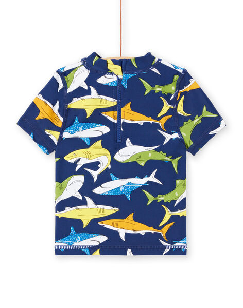 T-shirt anti-UV navy neonato LYUTEEUVEX1 / 21SI10D4TUV070