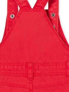 Salopette corta rossa neonato LUCANSAC / 21SG10M1SACF505