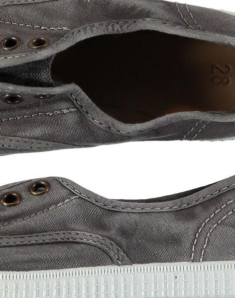 Scarpe da tennis tela tinta unita bambino FGTENGREY / 19SK36B3D16940