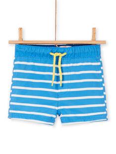 Costume shorts blu e bianco neonato LYUMER1 / 21SI10DEMAIC238