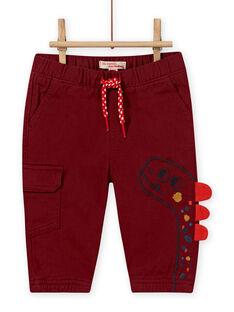 Pantaloni vinaccia con motivo dinosauro bambino MUPAPAN2 / 21WG10H1PAN719