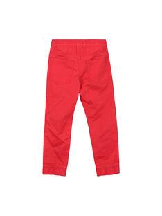 Pantaloni in tela rossi bambino FOJOPANT3 / 19S90237D2BF505