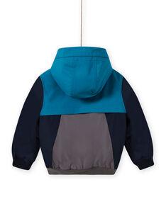 Giubbotto con cappuccio tricolore bambino MOGROBLOU3 / 21W90252BLOC243