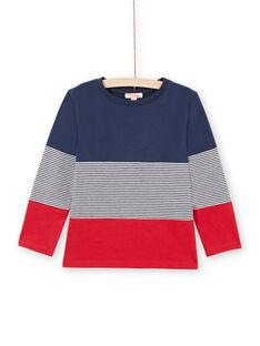 T-shirt navy e rossa bambino MOJOTIDEC1 / 21W90229TML705