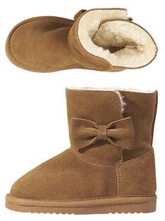 Stivali caldi crosta di pelle cammello bambina GFBOTTEPAU / 19WK35Y4D10804