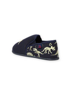Pantofole blu notte motivi dinosauri fosforescenti bambino MOPANTDINO / 21XK3632D0B070