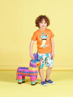 T-shirt bambino maniche corte peperoncino arancione JOMARTI2 / 20S902P2TMCE405