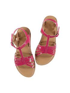 Sandali da città in pelle verniciata bambina FFSANDOLI2 / 19SK35C5D0E304