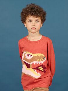 T-shirt arancione e gialla bambino MOPATEE1 / 21W902H3TMLE415