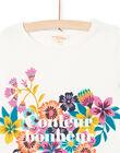 T-shirt ecrù stampa fiori colorati maniche corte donna LAMUMTI1 / 21S993Z1TMC001