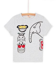 T-shirt grigio melange e nero bambino LOVITI6 / 21S902U2TMC943