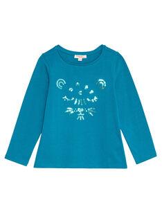Dark Turquoise LONGSLEEVE T-SHIRT KAJOTEE3 / 20W90137D32C217