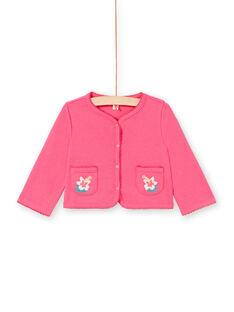Cardigan rosa neonata LIBONCAR / 21SG09W1CAR302