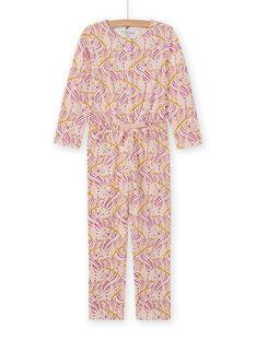 Tuta pigiama con stampa fantasia bambina MEFACOMBZEB / 21WH1181D4FD322