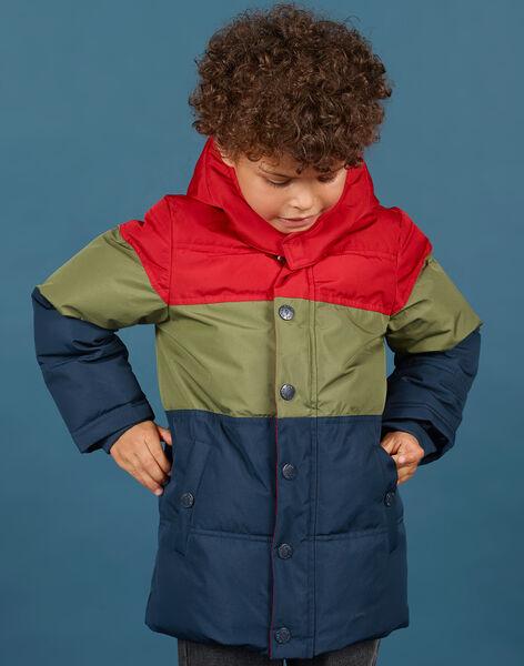 Piumino color block con cappuccio bambino MOGRODOU1 / 21W90251D3E505