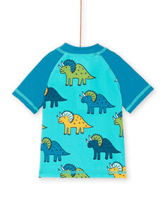 T-shirt anti-UV blu e turchese neonato LYUTEEUVEX2 / 21SI10D3TUVC215