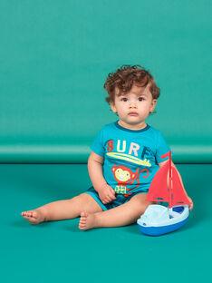 Completo da spiaggia blu e turchese neonato LUPLAENS2 / 21SG10T1ENS202