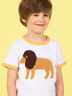 T-shirt bianca e arancione - Bambino LOJAUTI / 21S902O1TMC000