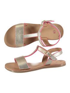 Sandali da città in pelle metallizzata bambina FFSANDISSA / 19SK35C6D0E954
