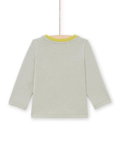 T-shirt kaki e verde neonato MUKATEE3 / 21WG10I1TMLG622