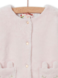 Cardigan double face rosa chiaro neonata MIJOCAR2 / 21WG0912CAR632