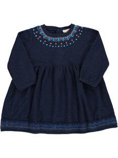 Baby girls' long-sleeved dress DIBLEROB3 / 18WG0993ROBC205