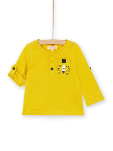 Golden yellow T-SHIRT LUJOTUN3 / 21SG1036TML106