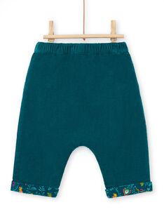Pantaloni double face petrolio neonata MITUPAN / 21WG09K1PAN714