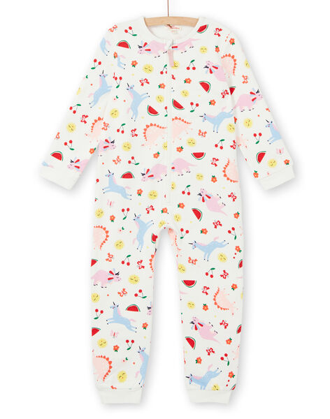 Pigiama bambina in tessuto felpato grattato con stampa fantasia LEFACOMBDI / 21SH1111D4F001