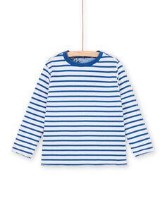 T-shirt double face blu e bianco - Bambino LOBLETEE1 / 21S902J1TMLC208
