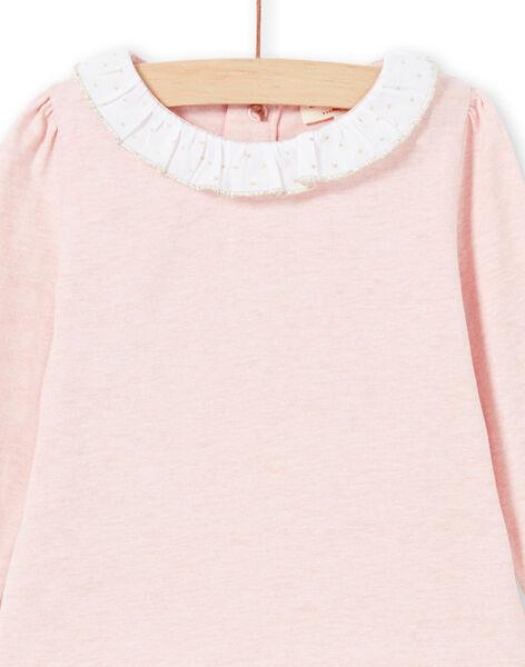 T-shirt rosa e bianca neonata MIJOBRA2 / 21WG0914BRAD314