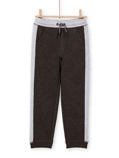 Pantaloni sportivi antracite e grigio melange bambino MOJOJOB2 / 21W90212JGB944