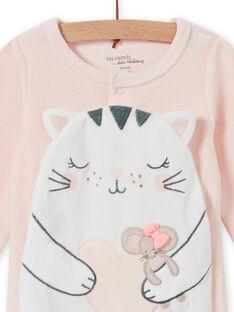 Tutina rosa chiaro motivo gatto neonata MEFIGRECHA / 21WH1382GRE301