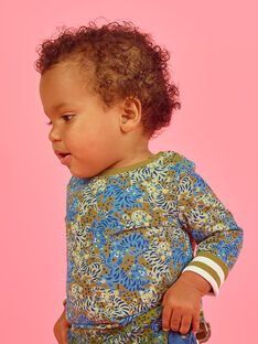 T-shirt double face a maniche lunghe neonato MUKATEE2 / 21WG10I3TML604