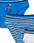 Set 3 slip bambino blu e grigio melange LEGOSLIBLUE / 21SH1222D5LC231