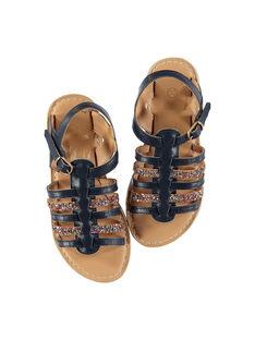 Sandali da città bimateriale bambina FFSANDMEL / 19SK35K1D0E070