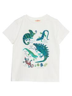 T-shirt bambino ecrù rettili JOSAUTI5 / 20S902Q4TMC001